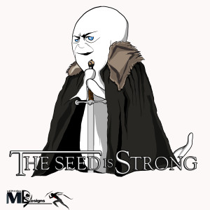 The seed is strong sperm t-shirt design